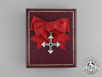 A Spanish Royal Brotherhood of Illescas; Women's Breast Badge with Case