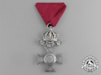 A Bulgarian Order of St. Alexander; Merit Cross with Crown