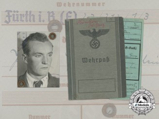 A Wehrpaß and Health book to Johann Heinlein; Landesschützen Battalion