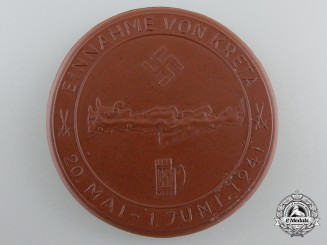 A 1941 Crete Invasion Commemorative Table Medal