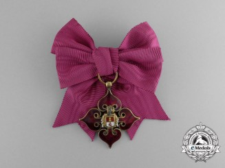 Spain, Kingdom. A Children of the Nobility of Madrid Women's Breast Badge