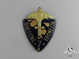 "An Italian 7th Infantry Division ""Leonessa"" (7° Divisione Leonessa) Sleeve Badge"