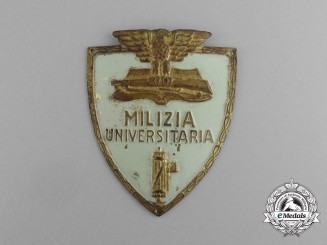 An Italian University Militia Fascist Membership Sleeve Badge
