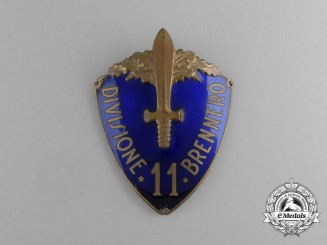 "An Italian 11th Infantry Division ""Brennero"" (11° Divisione Brennero) Sleeve Badge"