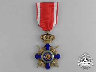 An Order of the Crown of Romania; Officer, Type II (1932-1947)