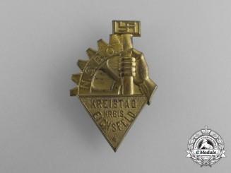 A Third Reich Period NSBO Eichsfeld District Council Day Badge