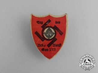 A Third Reich Period Day of the RAD in Region XVII Badge