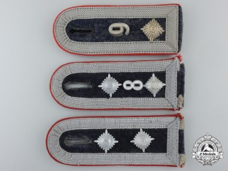 Three Luftwaffe Flak Artillery NCO's Shoulder Straps