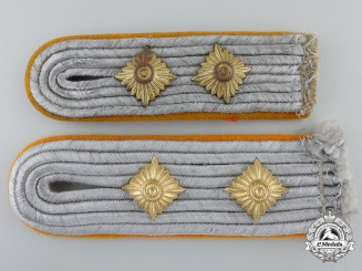 Two Hauptmann Rank Luftwaffe Flight Personnel Shoulder Boards