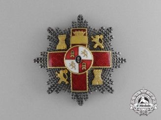 A Spanish Order of Military Merit; 2nd Class Breast Star with Red Distinction