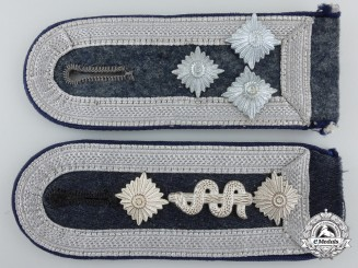 Two Luftwaffe Flak Medical Personnel NCO's Shoulder Straps