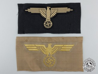 Two German Breast Eagles; Kriegsmarine & Tropical SS