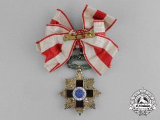 Cuba. An Order of the Red Cross, 3rd Class Ladies Commander, c.1920