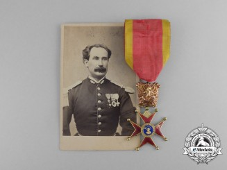 Vatican. An 1850's Gold Equestrian Order of St. Gregory the Great for Military Merit; Officer's Cross