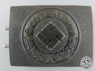 A Police Enlisted Aluminum Buckle, Marked R S & S