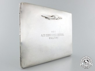 A No.1 Air Observer School Silver Presentation Case to a Dominion Skyways Trophy Winner 1943