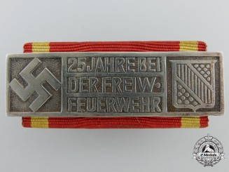 A Baden Volunteer Fire Brigade Twenty-Fine Year Long Service Award, Type II (1934-1936)