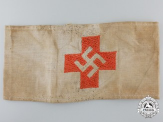 A Rare NSDAP/SA German Red Cross Armband, c. 1930s