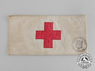 A DRK (German Red Cross) District Vienna South Membership Armband; Dated 1942