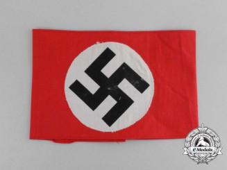 "A NSDAP Supporters Armband; Stamped ""NSDAP Schwäbisch-Gmünd"""