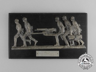A 1937 First War Memorial Plaque to Machine Gun Platoon Leader