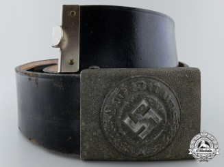 A German Police Belt and Buckle; Enlisted Version