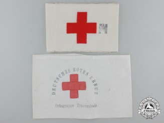 Two German Red Cross (DRK) Armbands
