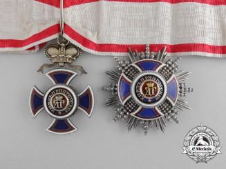 A Montenegrin Order of Danilo; 2nd Class Commander Set (1861-1918)