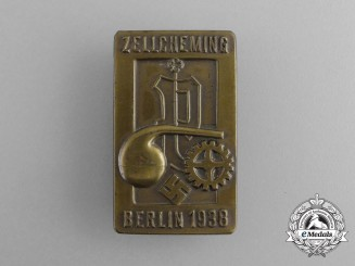 A 1938 Zellcheming Event in Berlin Badge