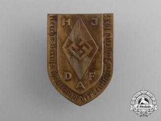 A 1934 HJ & DAF Reichs Occupational Skills Competition Badge