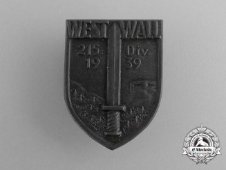 A 1939 215 Division Westwall Construction Commemorative Badge