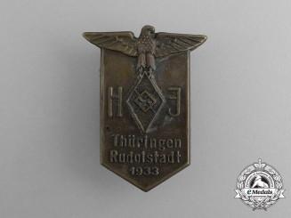 A 1933 HJ Thüringen Rudolstadt Badge