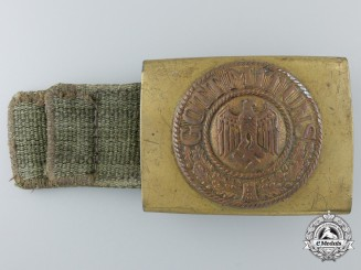 A Kriegsmarine (Tropical) Buckle with Drab Tab