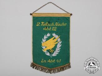 A Luftwaffe Second Fallschirmjäger Signals Division 12 & Signals Division 41 Pennant