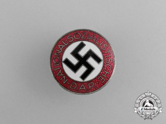 An NSDAP Party Membership Badge by Fritz Zimmermann