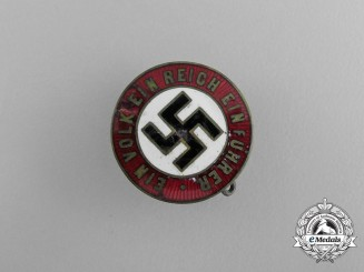 "An NSDAP Supporter's ""One People, One Empire, One Leader"" Badge"