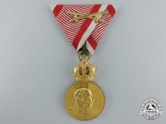 An Austrian Military Merit Medal; Bronze Grade, Franz Joseph I