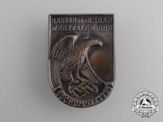 A 1935 NSDAP Westfalen-South Regional District Council Day Badge
