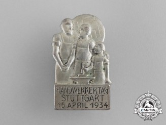 A 1934 Stuttgart Day of German Craftsmen Badge