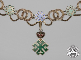 A Kingdom of Romania Order of Ferdinand I Collar & Badge