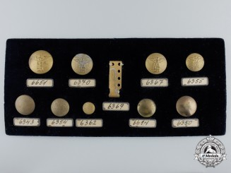 A Second War Kriegsmarine Salesman's Button Board