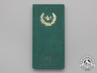 An Ottoman Empire Order of Osmania (Osmanli); 1st Class Grand Cross Case