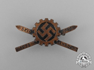 A 1938/39 DAF (German Labour Force) Ski Course Badge by B. H. Mayer