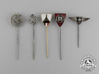 Five Third Reich Period German Stick Pins