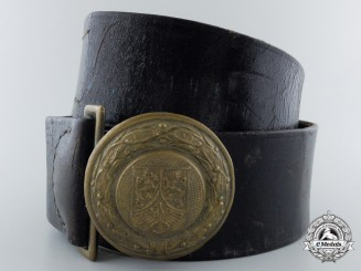 A Hessen Nassau Officer's Fire Defense Belt & Buckle