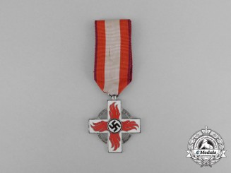 A German Fire Brigade Service Cross; Second Class