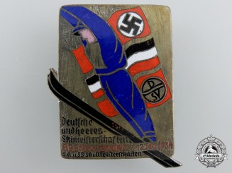 An SA-SS Ski Competition Badge 1934