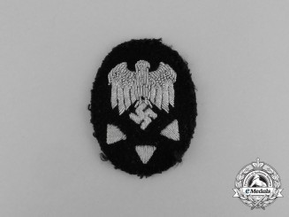 A Kriegsmarine Advanced Civilian Naval Technical Official Trade Patch