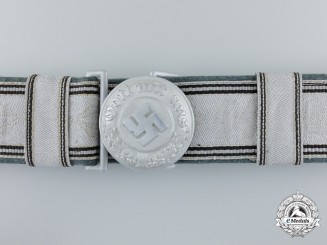 A Police Officer's Buckle with SS Brocade Belt by Assmann; Published Example