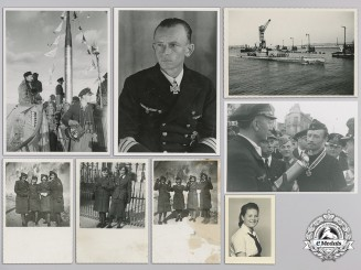 Four Photographs of U-Boot Commander Karl Thurmann; RK Recipient